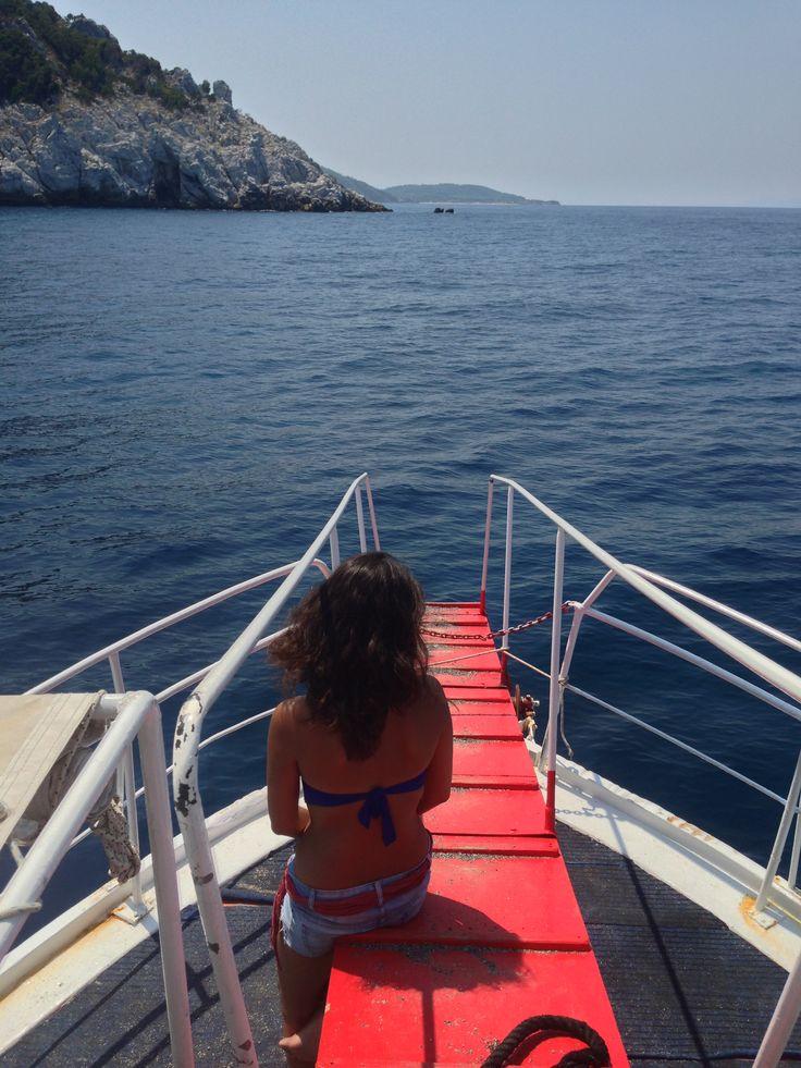 Sailing around Skiathos, Greece by Arban Bushi