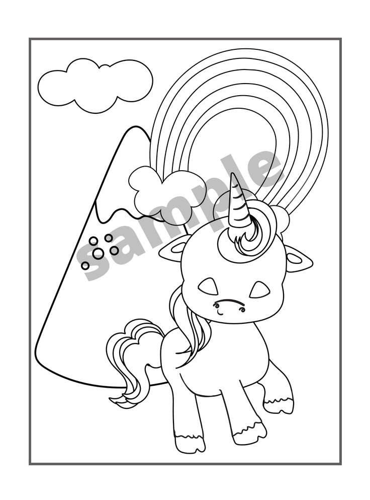 Magical Animals Coloring Pages For Girls: Unicorns ...