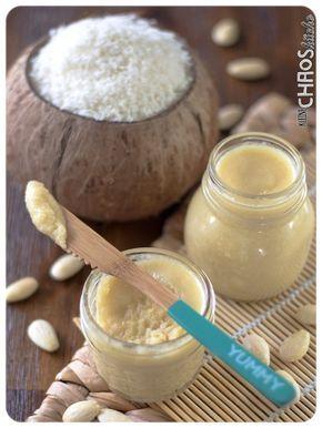 Kokos Mandel Creme mit weißer Schokolade