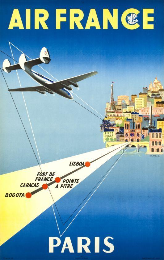 Air France, Paris via Bogota-Caracas-Fort de France-Lisboa