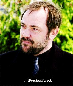 """Guess I've been...Winchestered."" - Crowley  #SPN  9.23  Do You Believe In Miracles"
