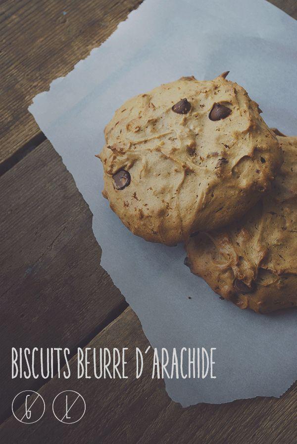 La prémisse: BISCUITS BEURRE D'ARACHIDE SANS FARINE