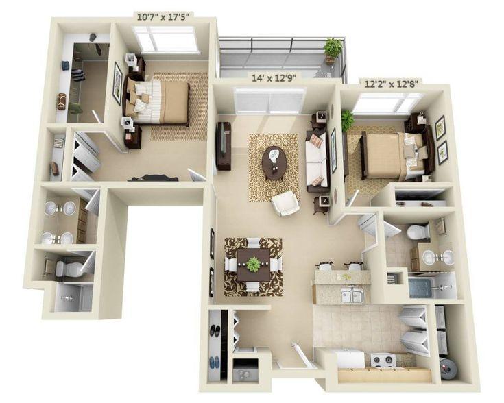 Listing Image Borgata In Bellevue Apartment Floor Plans Sims House Plans House Layout Plans