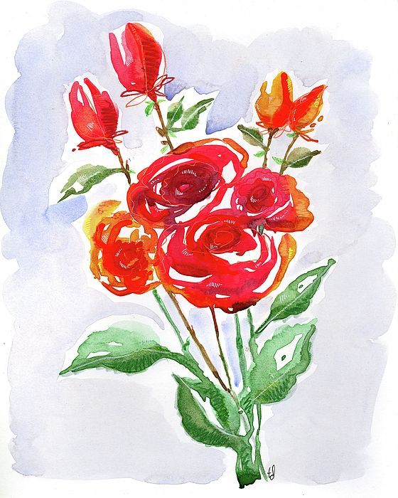 Classic Red Painting by Tonya Doughty