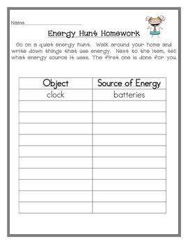 lesson 8 thread c-1 Sources of Energy for Primary Students