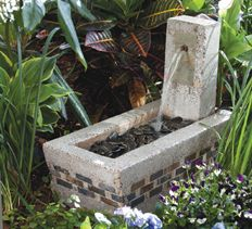 Instructions on how to build this small concrete fountain. I like the look of this one a lot.