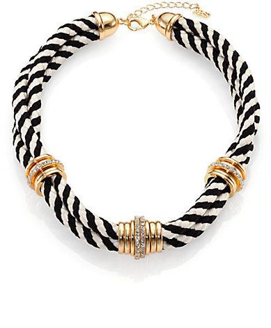 """Episode 5 """"2+2"""" - ABS by Allen Schwartz Jewelry Pave Corded Double-Row Necklace"""