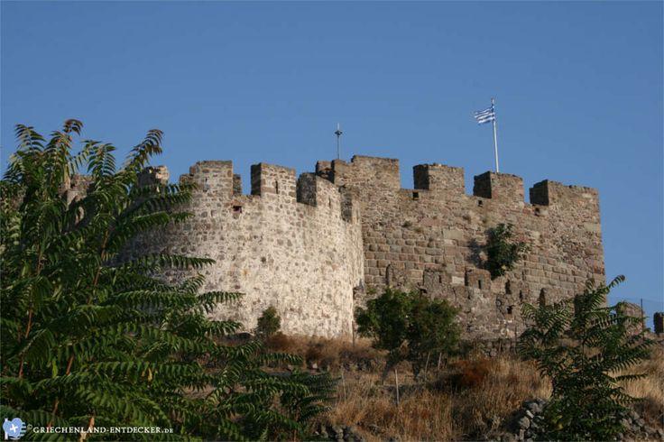 Teile der Festung von Mytilini auf der Insel Lesbos