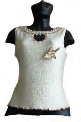 Damen #Shirt, ärmellos, 100% naturbelassene #Pima #Baumwolle.