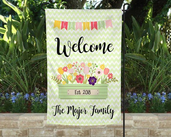 Get Ready For Spring With Our Personalized Yard Flags Sunflowerflag Flagforspring Hellospringflag Spri Personalized Garden Flag Winter Flags Holiday Flag