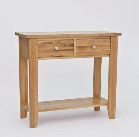 Small wood tall table console table on lansdown oak 2 for Small console table with drawer