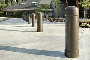 Reliance Foundry offers economical steel bollard covers that protect and beautify posts that define pedestrian spaces.