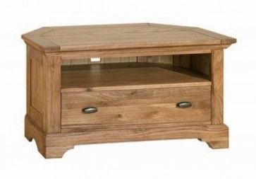 Toulouse Antique Oak Corner TV Unit - Mix of American Oak and Oak veneers £320.24