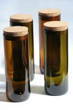 WandelWerkDesign: Vorratsdosen aus alten Weinflaschen