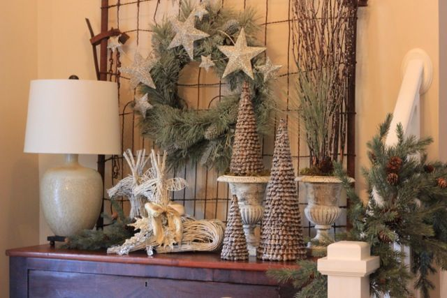 Christmas Decorating Ideas For Entry Table : Best images about repurposed garden gates on