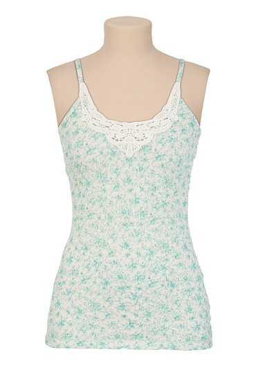 Printed Crinkle Tank with Crochet Neckline - maurices.com