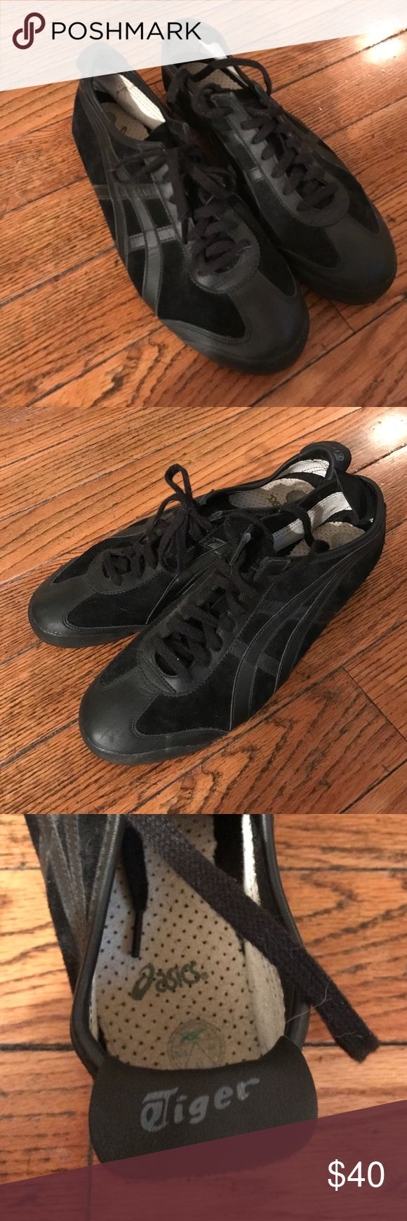 "Black Asics ""onisuka tigers"" Great condition, Never worn Asics Shoes Sneakers"