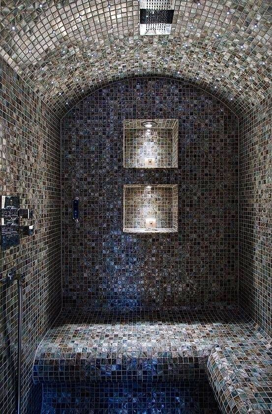 Tiled shower bath