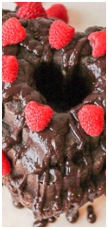 Chocolate Bundt Cake with Dark Chocolate Raspberry Ganache ~ Dense, moist chocol…  – !!!Bloggers Recipes Lovefoodies Loves!!!