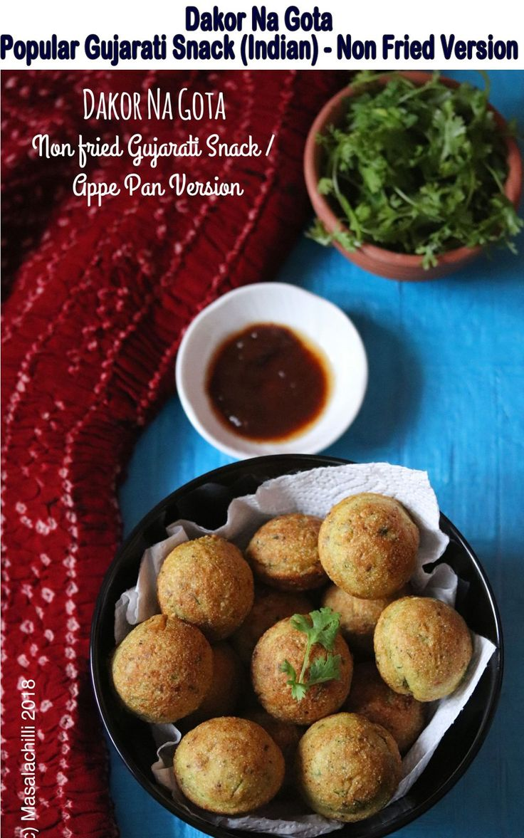 A Popular Gujarati Snack or Farsan – Dakor Na Gota named after a place called Dakor In Gujarat in a non-fried version, tastes best with a meetha or sweet chutney. Now Who Says Snacks need deep frying?