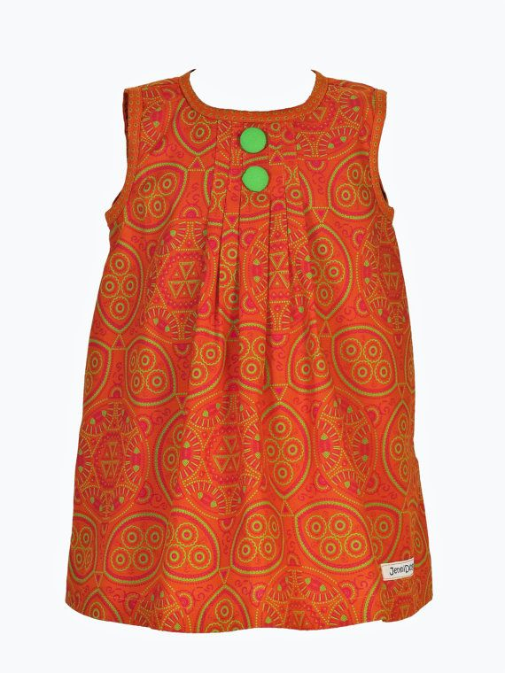 Girls Imvelo 'Natural' African Print Dress by JenniDezignsClothing