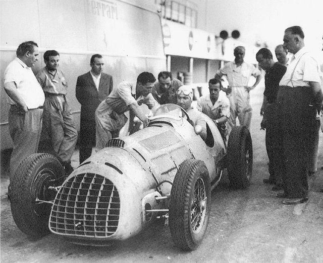 1949 ferrari 125 - testing, monza 3, alberto ascari, enzo ferrari right | da Cor Draijer