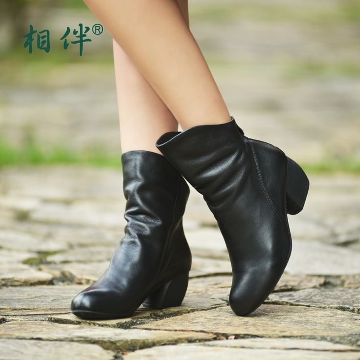 >> Click to Buy << Xiangban woman ankle boots soft leather fashion female boots black round toe 2017 spring autumn shoes  #Affiliate