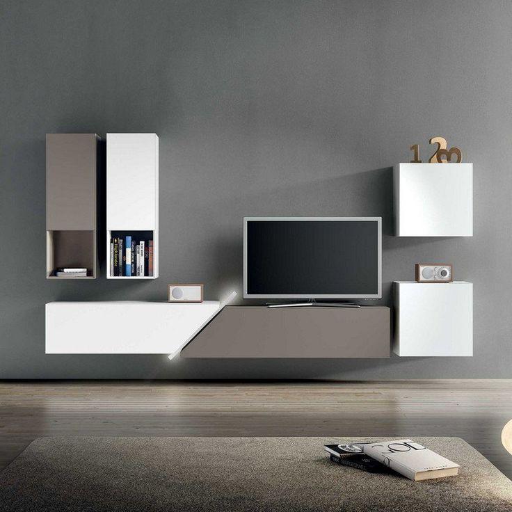 Les 25 meilleures id es de la cat gorie meuble tv moderne for Meuble tele suspendu
