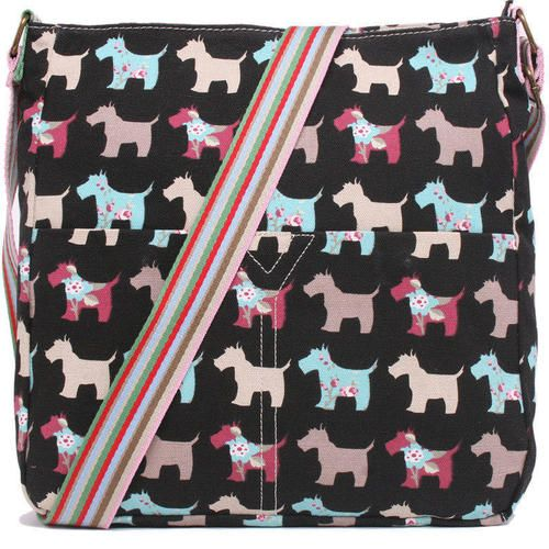 Scottie/Cairn/Westie Terrier Canvas Purse - Black, $22.95