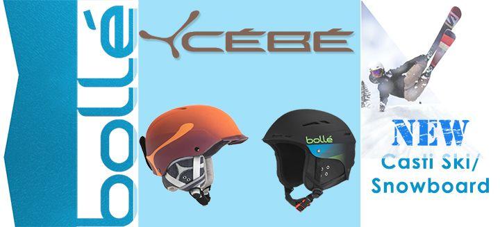 Casca este un element esential in sporturile de iarna! Fie ca practici schi sau snowboard casca nu trebuie sa iti lipseasca din dotare. Catile Cebe/Bolle iti ofera protectia de care ai nevoie  ---> http://www.snowsports.ro/Accesorii/Casti/Producator=Bolle,Cebe/Filtrare.html