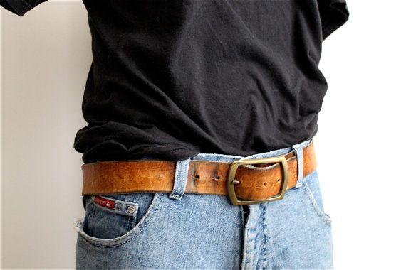 super soft vintage saddle brown leather belt // by RedTuTuRetro, $30.00