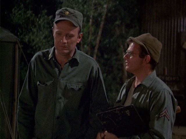 M*A*S*H: Season 3, Episode 9 Alcoholics Unanimous (12 Nov. 1974)  mash, 4077,  Major Frank Burns, Larry Linville, Gary Burghoff , Corporal Walter Eugene Radar O'Reilly ,