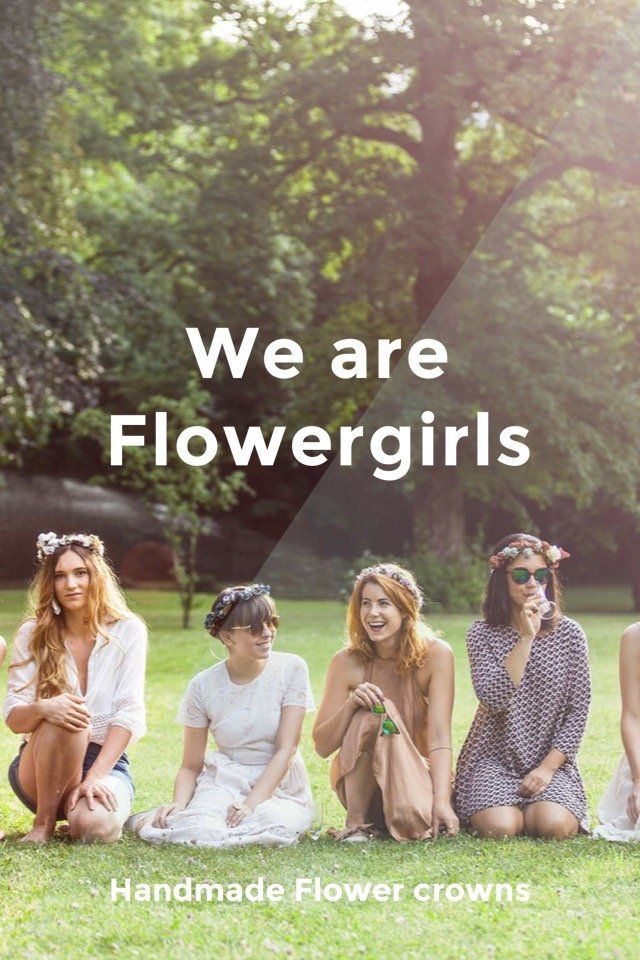 We are Flowergirls Handmade Flower crowns www.weareflowergirls.com