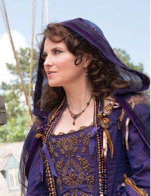 Site discusses Period Corsets and clothing design for TV show - Salem.  Lucy Lawless stars.