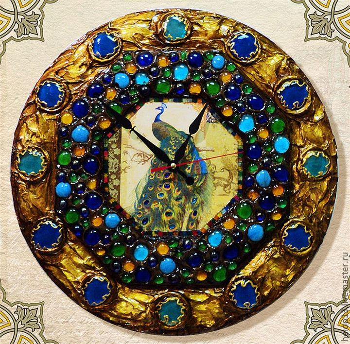 Часы настенные 'Павлин'