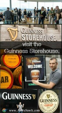 A Dublin itinerary should include the Guinness Storehouse, even for those who don't drink beer.
