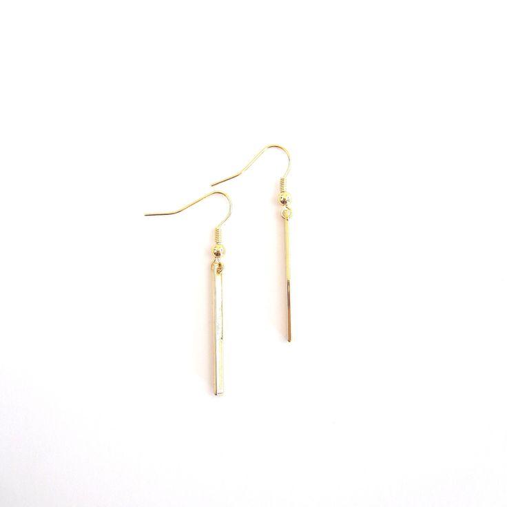 * Boucles d'oreilles barre *  #gold #barres #boucles #oreilles #bijoux #jewelry #madeinfrance #desinvolte #lesdesinvoltes