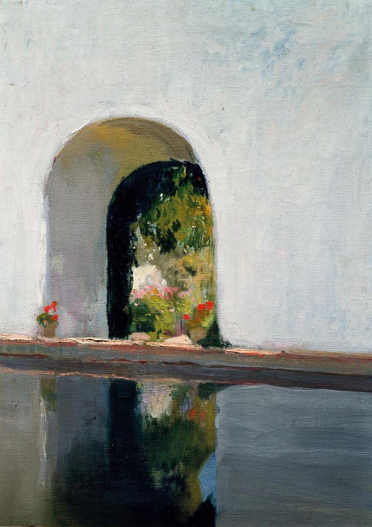 urgetocreate: Joaquín Sorolla,La Alberca, Alcázar di Siviglia (Gardens of Light), 1918