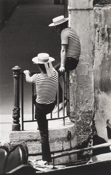 Gianni Berengo Gardin, Gondolieri, 1960