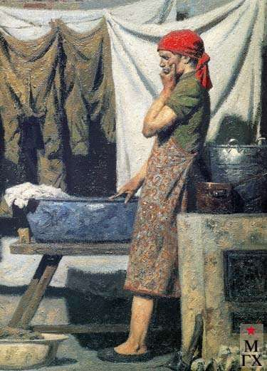 Triptych deserter. (Right part) - Geliy Korzhev