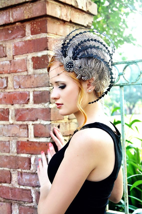 New Orleans Lady Soft Grey & Silver Fascinator by TheHauteFeather