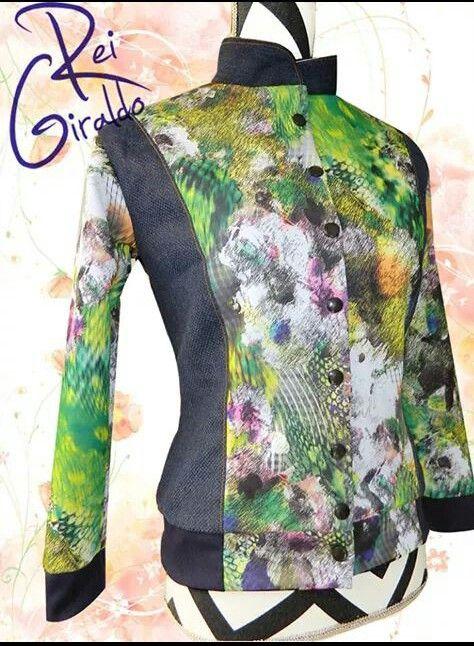 Bomber jacket #ReiGiraldo #Abstract print