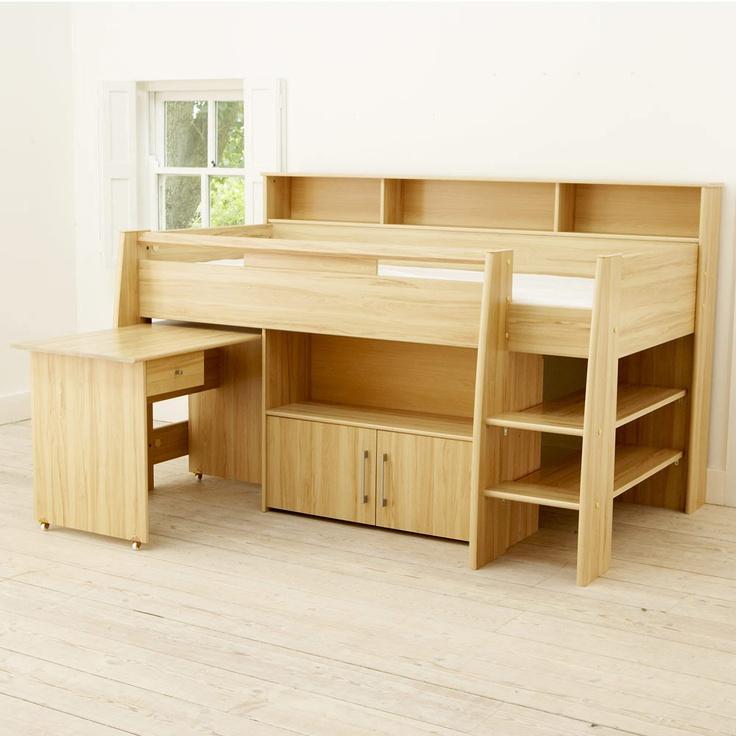 Reece Midsleeper Cabin Bed Beech All Children 39 S Beds