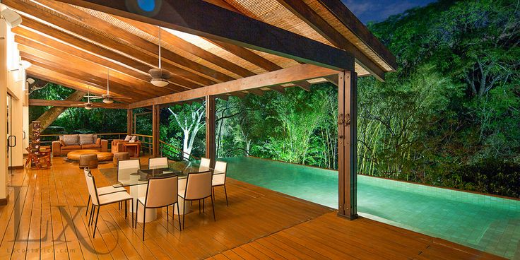 Beautiful view of the pool floating over the forest at Casa Essentia http://lxcostarica.com/property/casa-essentia-villa-real Santa Ana, Costa Rica