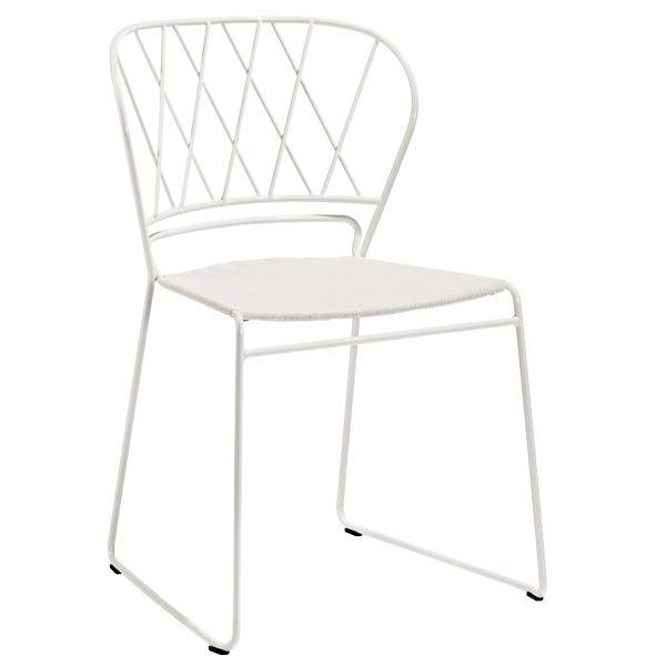 Res� tuoli verhoilulla, valkoinen-beige