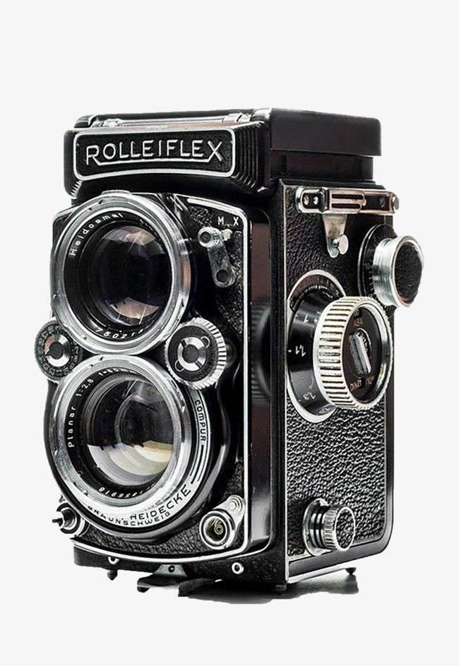 Black Old Camera Png And Clipart Rolleiflex Camera Classic Camera Old Camera
