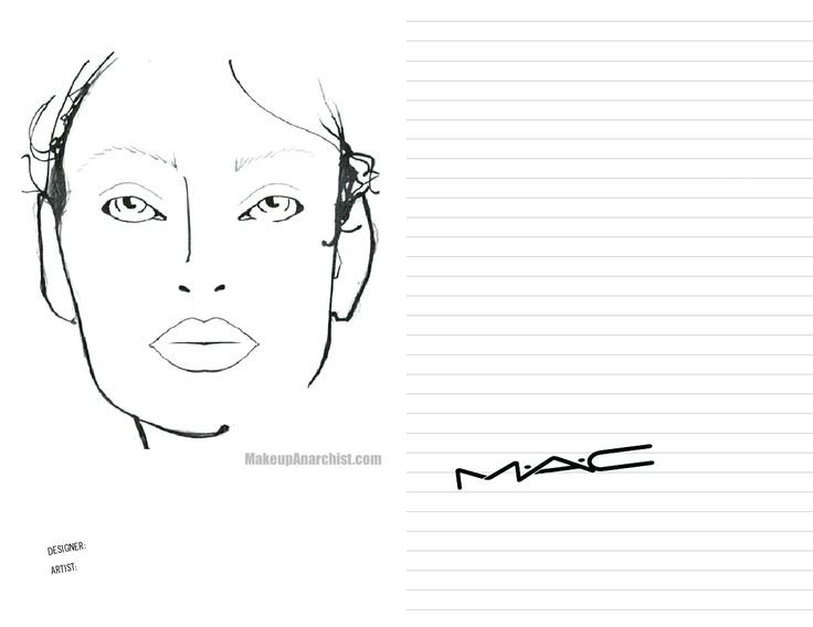 23 best face charts images on pinterest