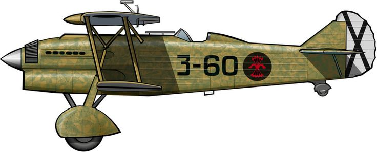 Un CR.32 de la Aviación Legionaria (Fuerza Aérea nacionalista) en 1937.