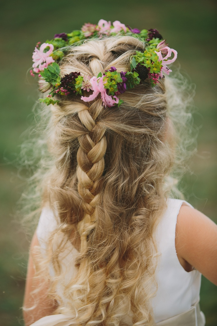 43 Best Images About Flower Girl Hair On Pinterest Updo