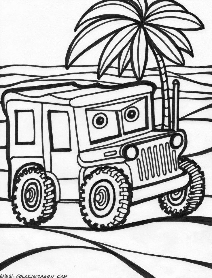 Cars 19 1000x1310 Pixels Summer Coloring PagesBeach KidsJeep Blackboards